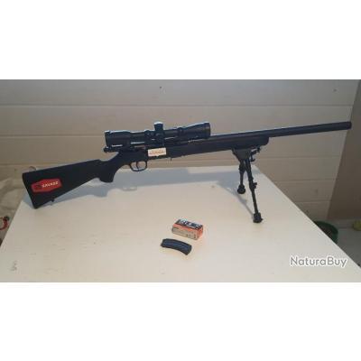 Carabine 22Lr Savage MARK II G-Custom silence série spéciale+lunette+bipied - Carabines 22LR (7204679)