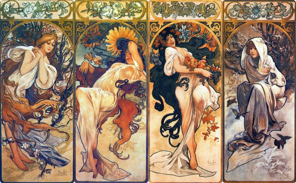 Art Nouveau Alphonse Mucha Paintings