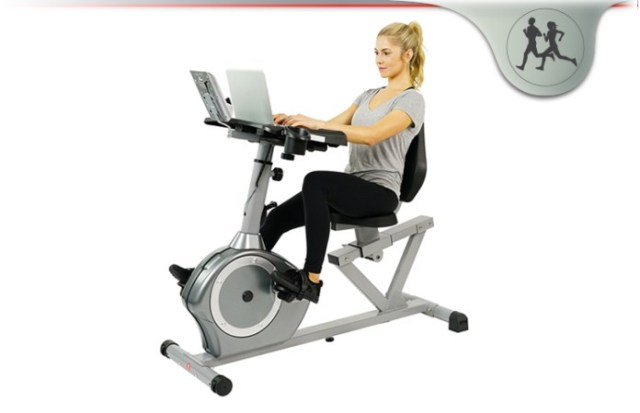 Sunny Health & Fitness Magnetic Recumbent Desk Exercise Bike