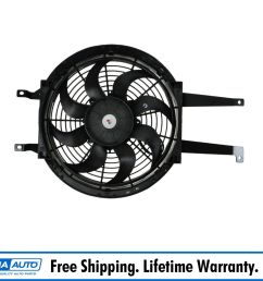 auxiliary a c ac condenser cooling fan assembly right rh for chevy gmc pickup [ 1600 x 1600 Pixel ]
