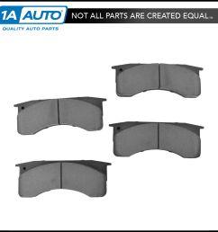 nakamoto posi ceramic brake pad set rear kit for ford f650 f750 gmc c6000 c7000 [ 1200 x 1200 Pixel ]