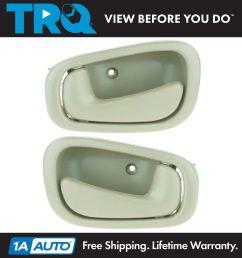 1998 02 toyota corolla interior door handle pair tan with manual locks [ 1600 x 1600 Pixel ]