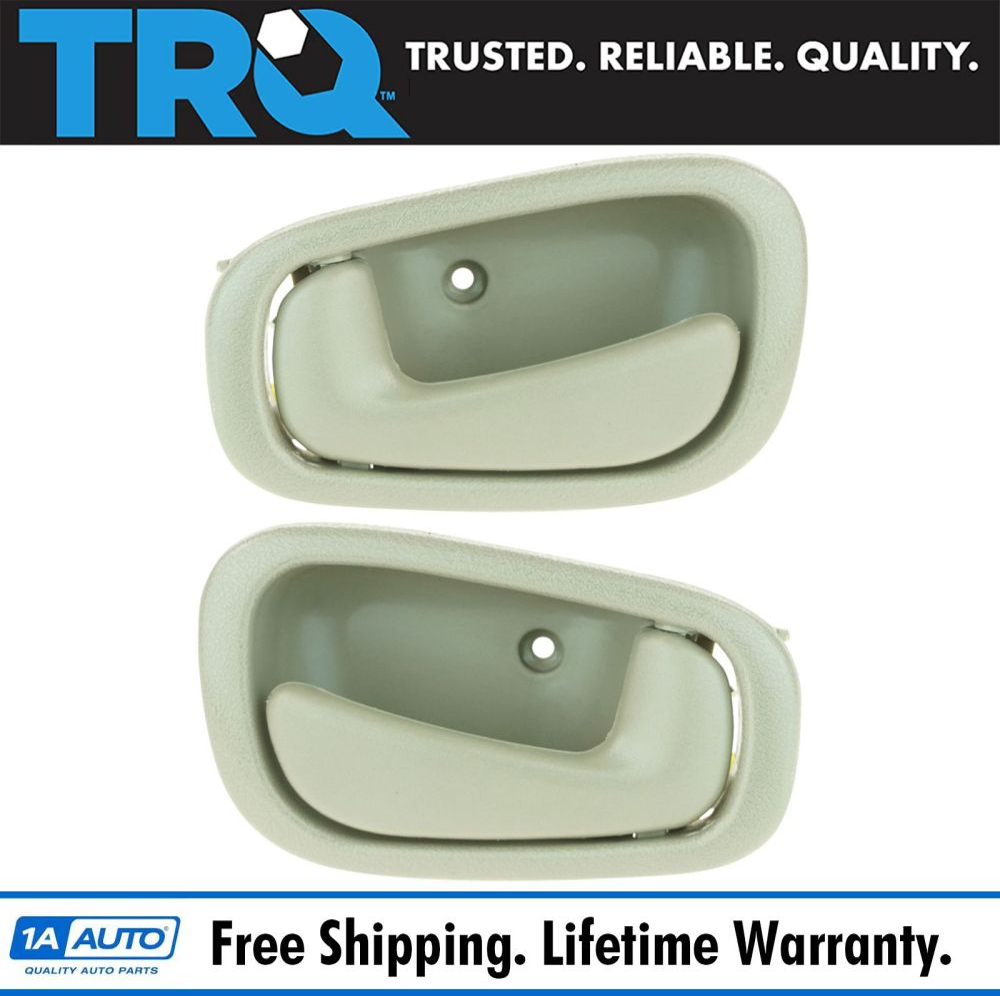 medium resolution of 1998 02 toyota corolla interior door handle pair tan with manual locks