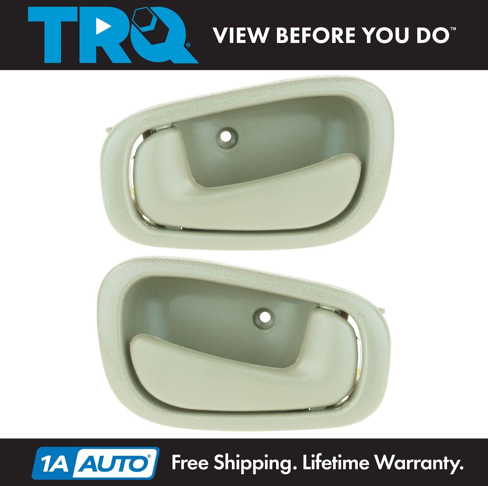 hight resolution of 1998 02 toyota corolla interior door handle pair tan with manual locks