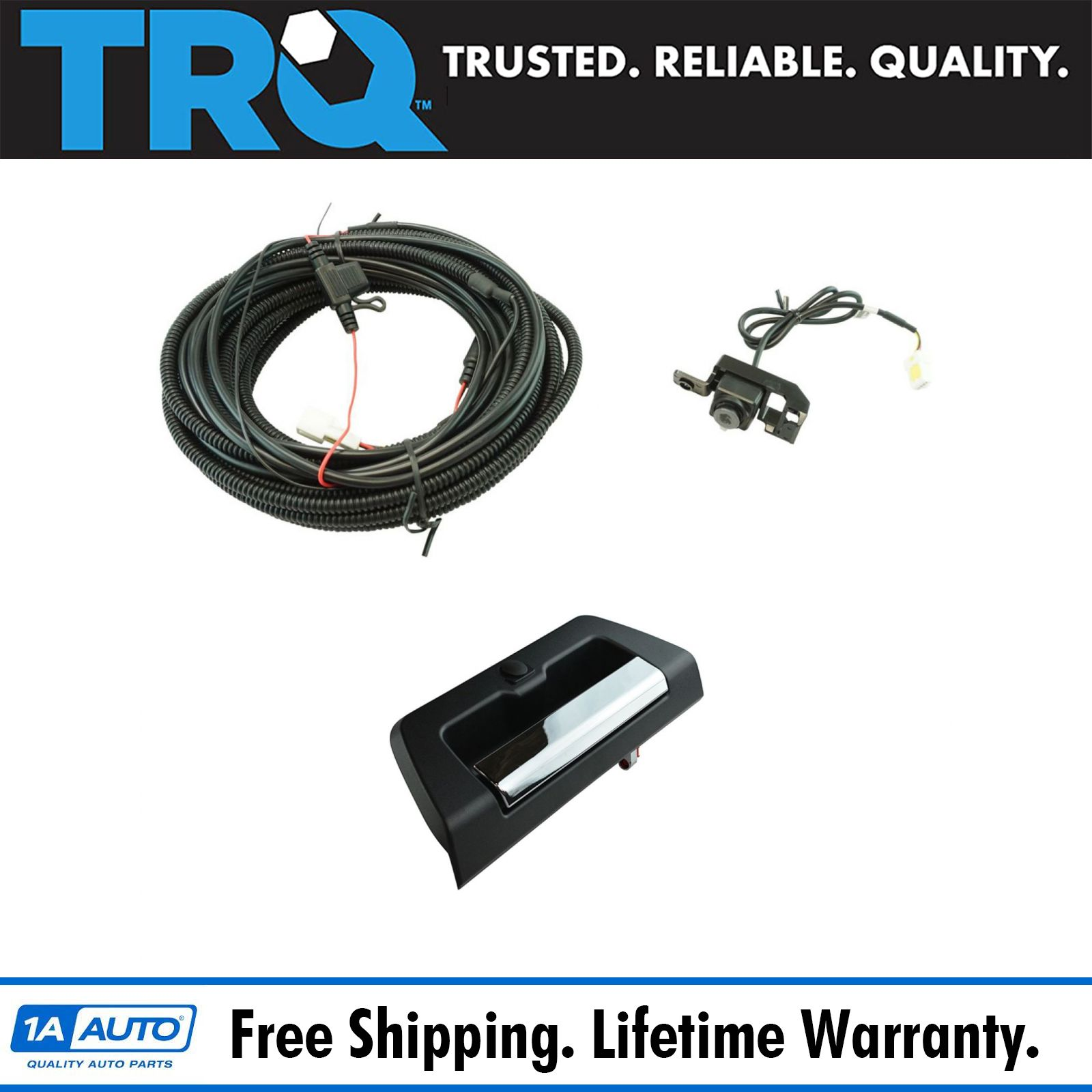 hight resolution of rear view camera add on kit w wiring harness tailgate handle for ford f150