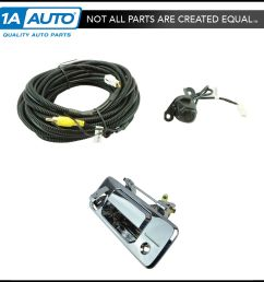 details about rear view camera add on kit w wiring harness tailgate handle for toyota truck [ 1600 x 1600 Pixel ]