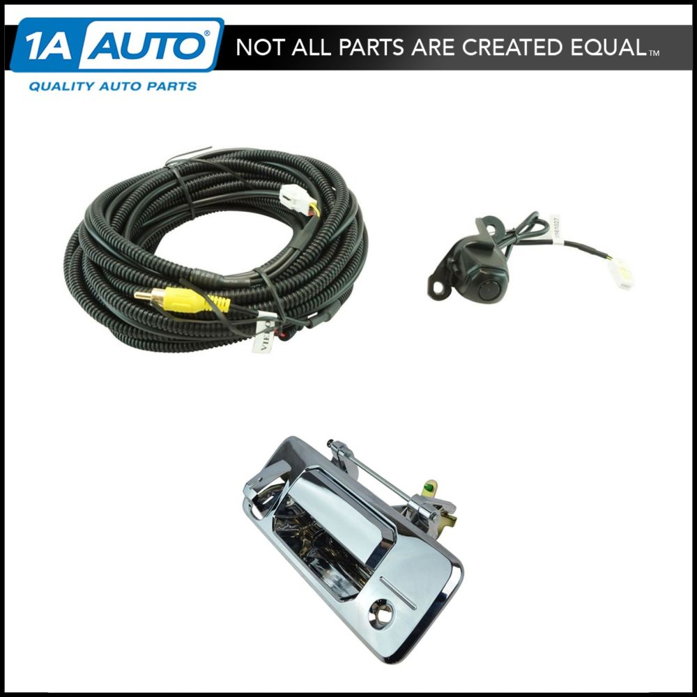 medium resolution of details about rear view camera add on kit w wiring harness tailgate handle for toyota truck
