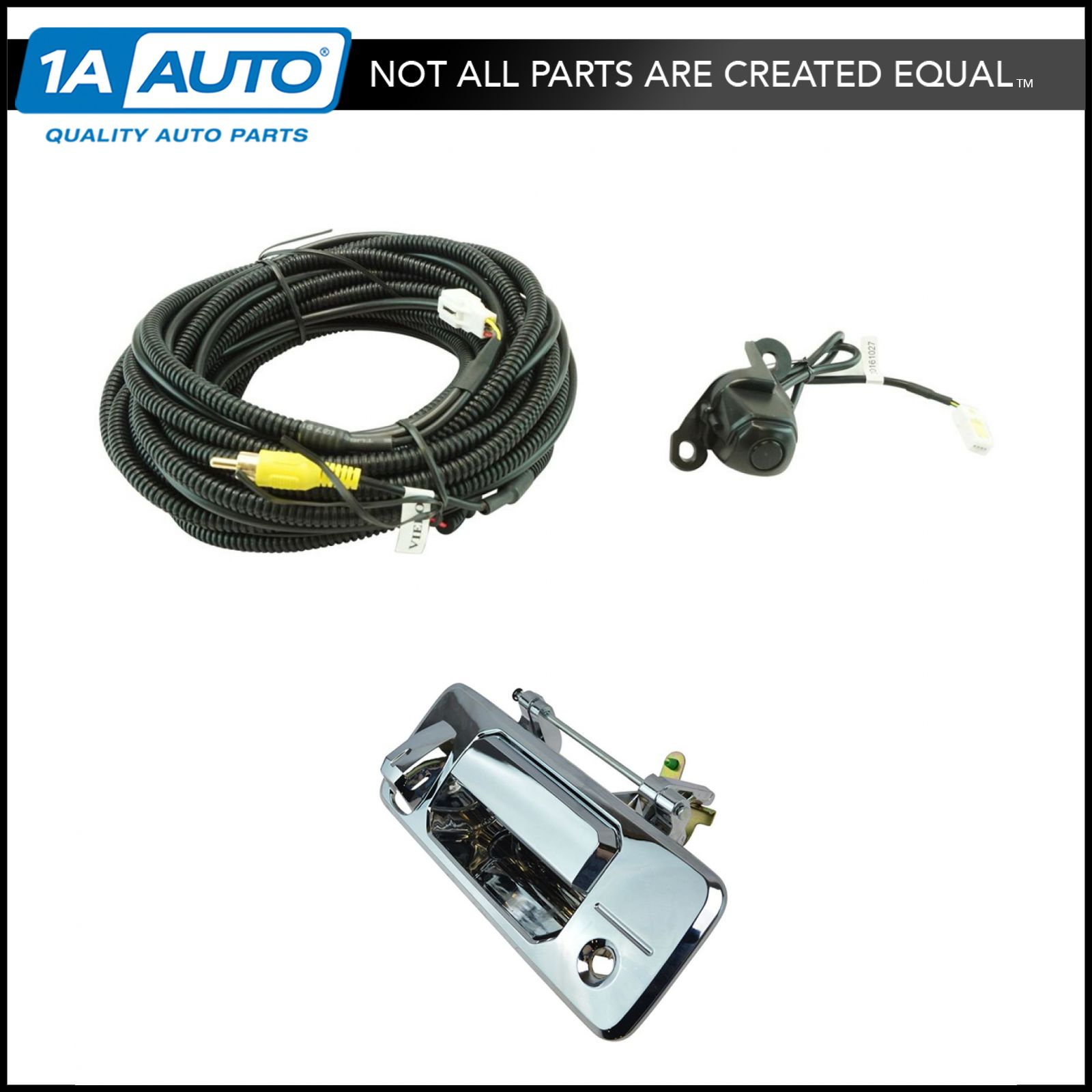 hight resolution of details about rear view camera add on kit w wiring harness tailgate handle for toyota truck