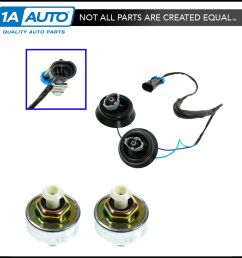 knock sensor with harness pair kit set for chevy gmc silverado sierra cadillac [ 1600 x 1600 Pixel ]