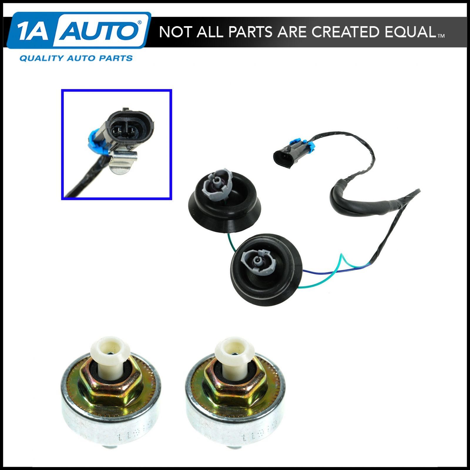 hight resolution of knock sensor with harness pair kit set for chevy gmc silverado sierra cadillac