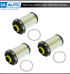 fuel filter replacement set of 3 for dodge ram 2500 3500 4500 5500 turbo diesel [ 1600 x 1600 Pixel ]