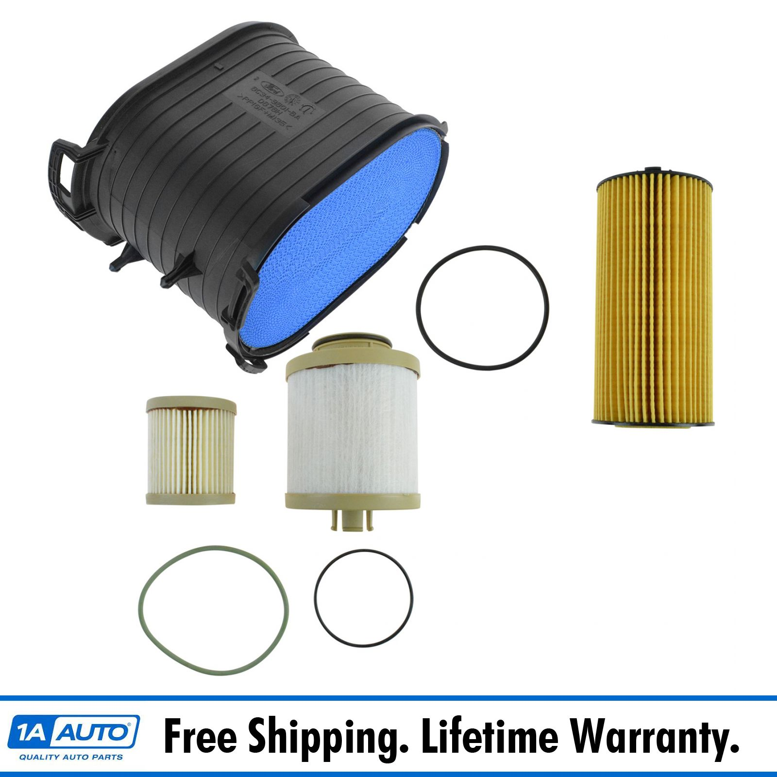 hight resolution of details about motorcraft air oil fuel filter set of 3 for 03 07 6 0l powerstroke turbo diesel