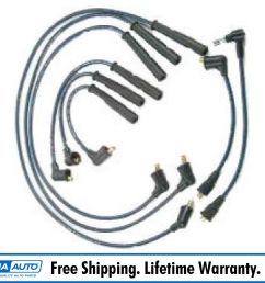 ignition spark plug wire set kit for 88 91 toyota pickup 4runner 3 0l [ 1600 x 1600 Pixel ]