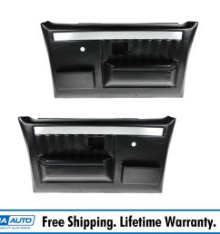molded plastic door panels w manual windows for chevy gmc pickup truck suv [ 1600 x 1600 Pixel ]