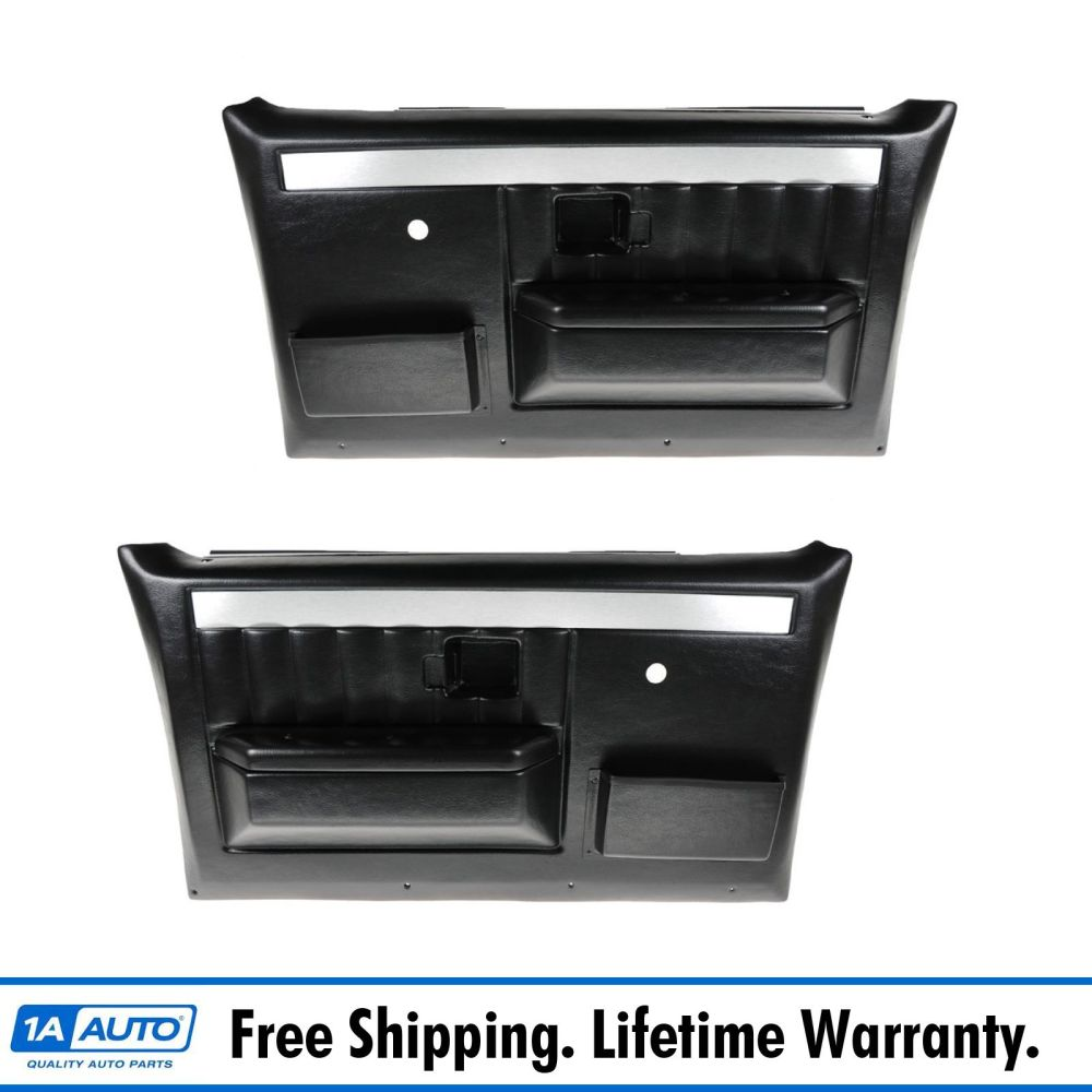 medium resolution of molded plastic door panels w manual windows for chevy gmc pickup truck suv