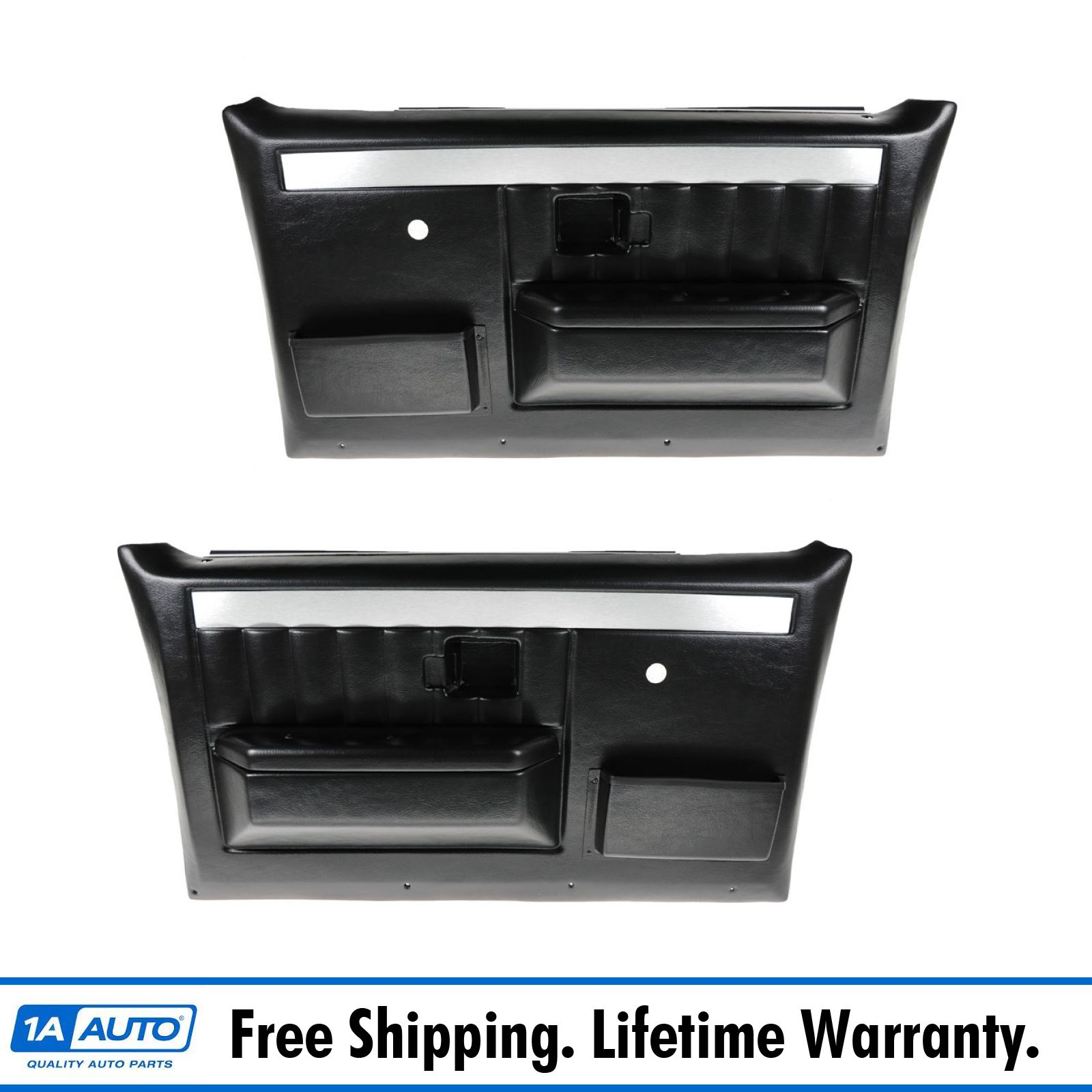 hight resolution of molded plastic door panels w manual windows for chevy gmc pickup truck suv