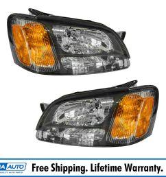 headlights headlamps pair set for subaru legacy gt baja outback [ 1600 x 1600 Pixel ]