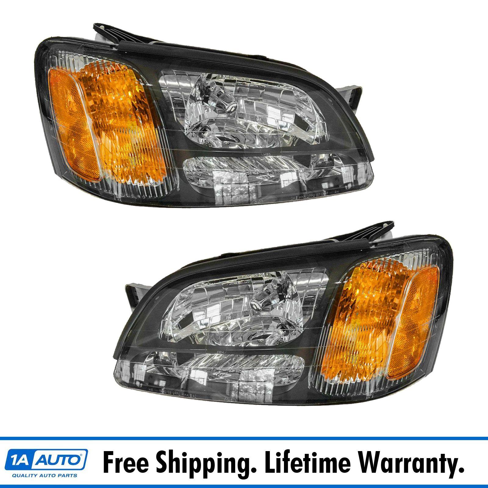hight resolution of headlights headlamps pair set for subaru legacy gt baja outback