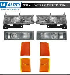 details about headlights corner parking lights left right set kit for 90 93 chevy truck [ 1200 x 1200 Pixel ]