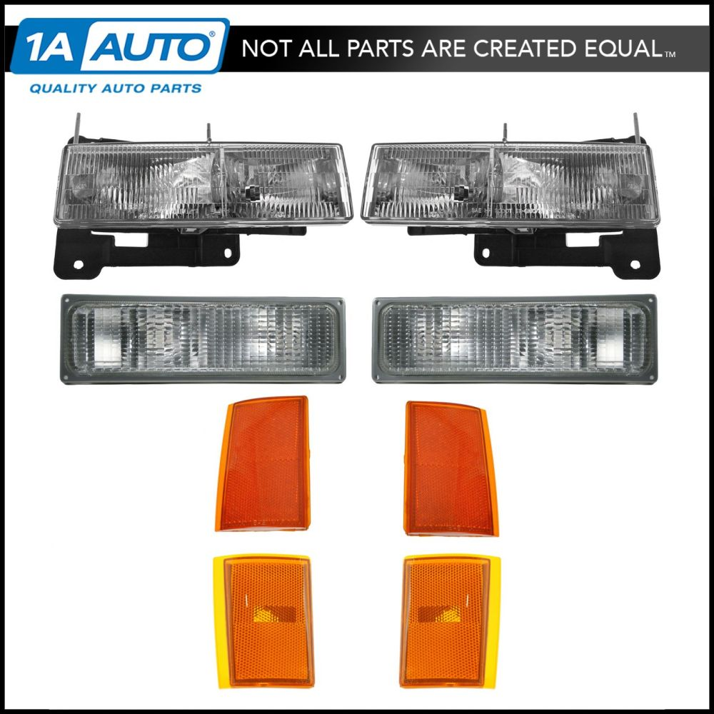 medium resolution of details about headlights corner parking lights left right set kit for 90 93 chevy truck