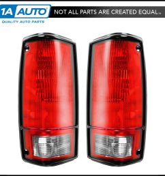 taillights taillamps brake lights pair set rear for 82 93 pickup truck s10 s15 [ 1600 x 1600 Pixel ]
