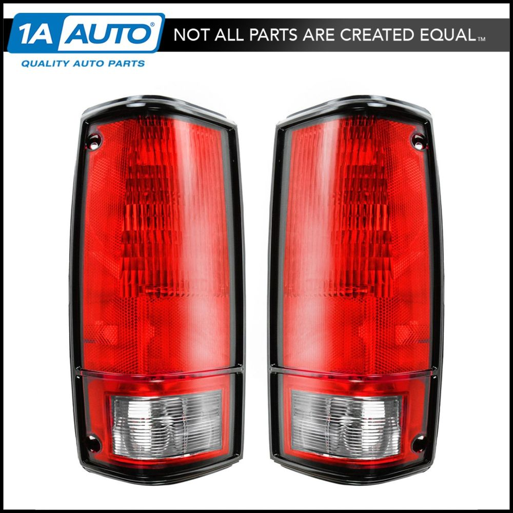 medium resolution of taillights taillamps brake lights pair set rear for 82 93 pickup truck s10 s15