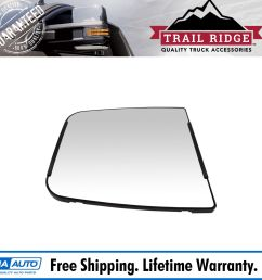mirror glass with backing plate manual for chevy silverado gmc sierra 3500 [ 1600 x 1600 Pixel ]