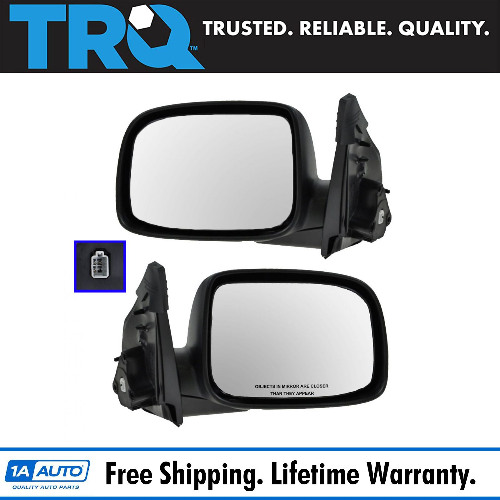 hight resolution of 2004 05 gmc canyon power mirror pair