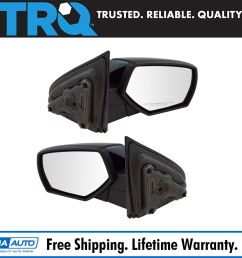 mirror manual smooth black pair set of 2 for chevy gmc pickup truck new [ 1600 x 1600 Pixel ]