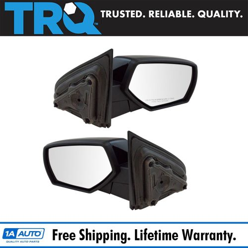small resolution of mirror manual smooth black pair set of 2 for chevy gmc pickup truck new