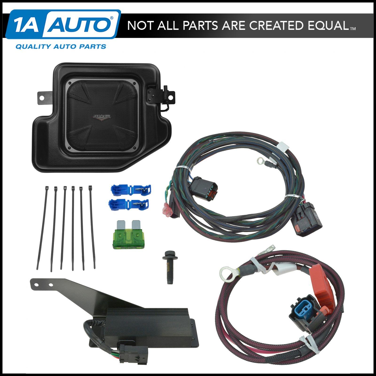 hight resolution of details about oem 77kick44 10 inch kicker subwoofer speaker kit for dodge ram pickup truck new