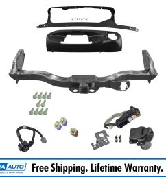 oem trailer tow hitch receiver w harness and finisher kit for nissan pathfinder [ 1600 x 1600 Pixel ]