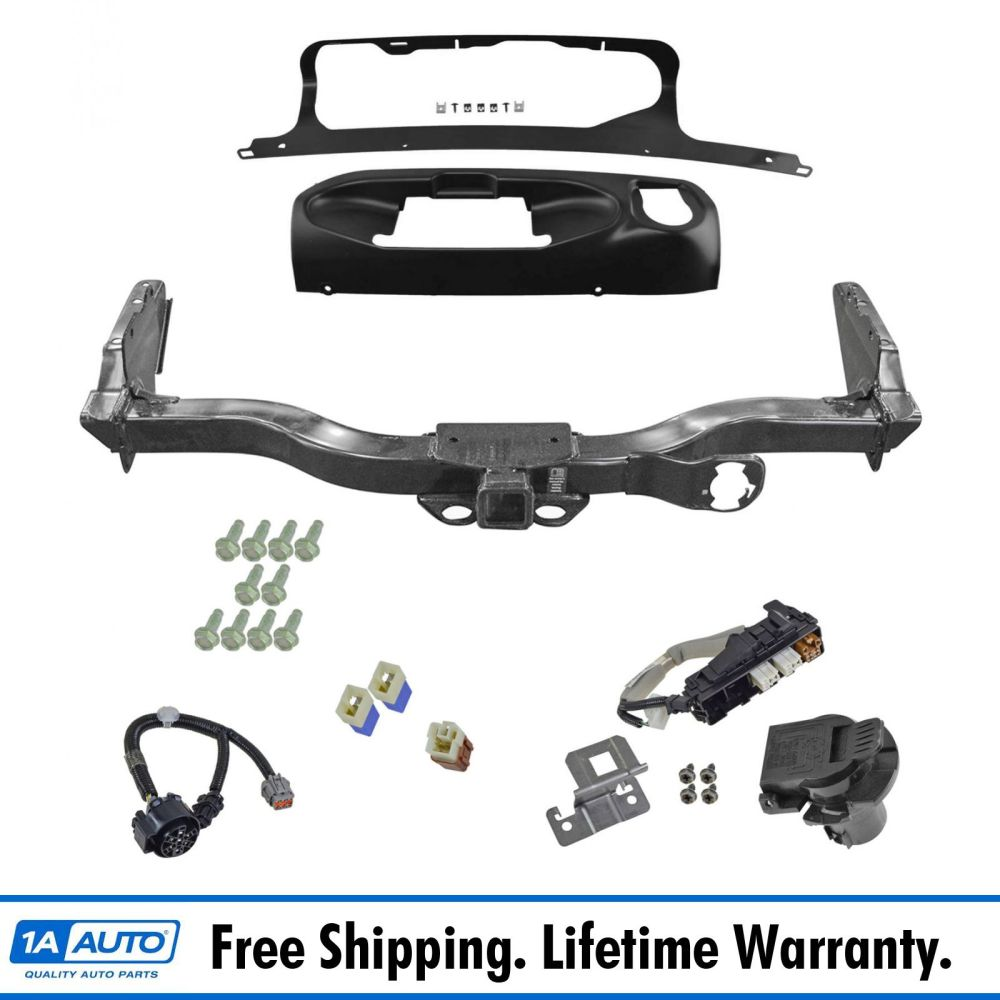 medium resolution of oem trailer tow hitch receiver w harness and finisher kit for nissan pathfinder
