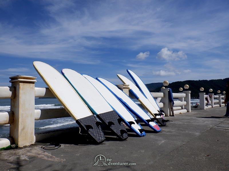 baler surfboards displayed one adventurer