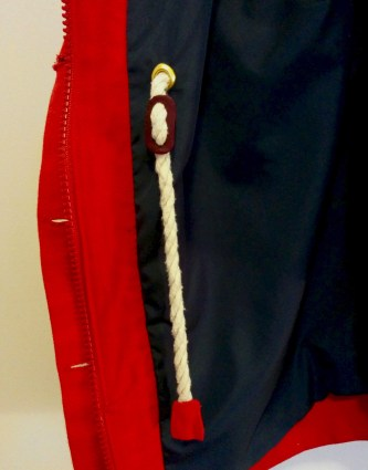 Added zipper panel and inner cord details