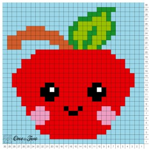 One and Two Company - Alice the Apple C2C Blanket - Free Crochet Pattern