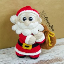 One and Two Company - Claus the Little Santa amigurumi