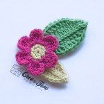 One and Two Company - Flower and Leafs FREE Applique Crochet Pattern