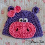 One and Two Company - Hippo Hat - 3 sizes - FREE Crochet Pattern