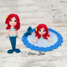 One and Two Company - Marina the Mermaid Lovey & Amigurumi
