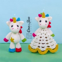 One and Two Company - Nuru the Unicorn Lovey & Amigurumi