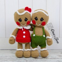 One and Two Company - Nut and Meg Gingerbread Amigurumi
