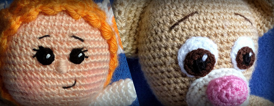 crocheted eyes for amigurumi one and two company crochet