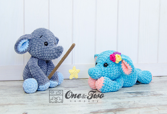 Enzo The Tiny Elephant Amigurumi New Crochet Pattern One And Two