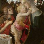 圣母与圣婴、施洗者约翰 by 波提切利