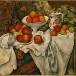 静物:苹果和桔子 by 塞尚