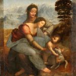 不再害怕黑影——圣母、圣子与圣安妮 by 达芬奇