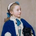 七岁的玛利亚·范·里德-阿斯隆 by 让-艾蒂安·利奥塔德
