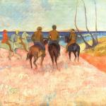 海滩上的骑马人 by 高更