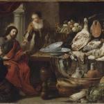 耶稣与马大和玛利亚在一起 by 扬·费特 & 伊拉兹马斯·奎林